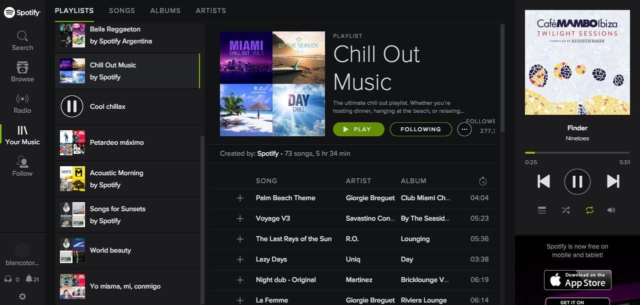 Listas Spotify
