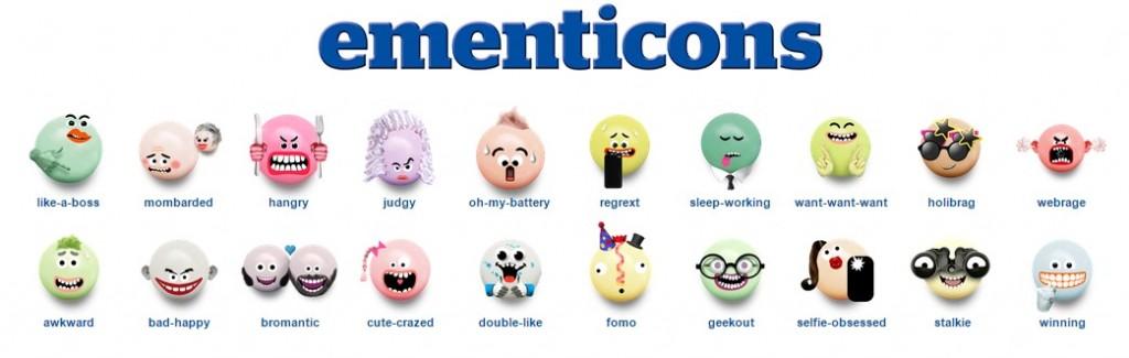 Imagen de los emoticonos de mentos, Ementicons