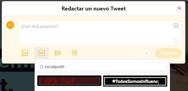 nuevo tuit