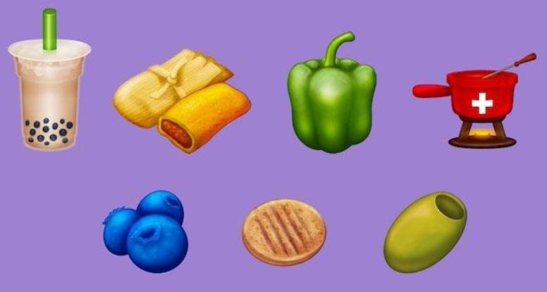 Los nuevos emojis de comida
