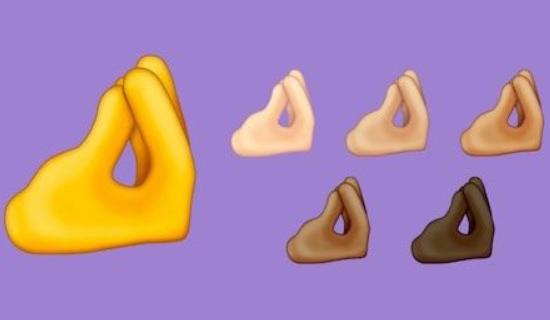 Así son los nuevos emojis de los dedos italianos