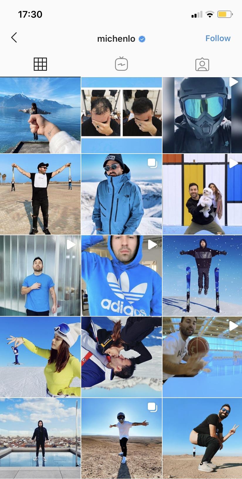 Perfil de Instagram de @Michenlo