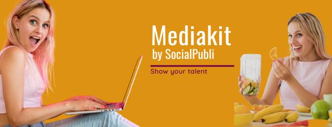 New MediaKit by SocialPubli: your portfolio in 5 minutes